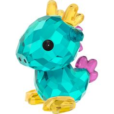 """From Swarovski Crystal, this """"Dragon - Chinese Zodiac"""" figurine created by Hiroshi Yoshii is a perfect gift for Chinese New Year, a birthday, or as a … Swarovski Gifts, Swarovski Crystal Figurines, Swarovski Jewelry, Swarovski Crystals, Dragon Figurines, Glass Figurines, Collectible Figurines, Cristal Art, Hello Kitty"""