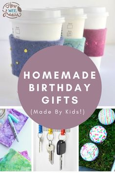 These homemade birthday gifts are perfect for kids to make for Mom, Dad, Grandparents, friends, and siblings. Making your own gifts for loved ones is such a special activity for kids as it promotes kindness. DIY gifts that turn out AMAZING are even better! Homemade Birthday Presents, Birthday Present Diy, Birthday Presents For Mom, Presents For Best Friends, Diy Gifts For Friends, Birthday Gifts For Best Friend, Mom Birthday Gift, Homemade Gifts, Preschool Arts And Crafts