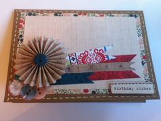 Card made using Sew Lovely kit