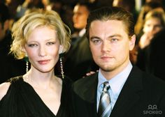 CATE BLANCHETT and LEONARDO DICAPRIO at the German premiere of 'The Aviator' Berlin, Germany- 07.01.05