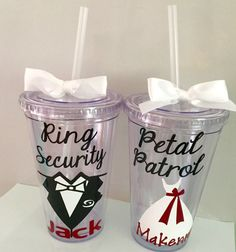 Ring Security Gift Wedding Cups by dreamingdandelions on Etsy