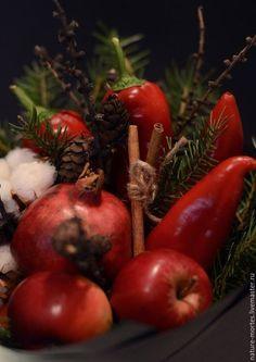 Цветы ручной работы. Ярмарка Мастеров - ручная работа. Купить Букет из овощей и фруктов - Здесь водятся драконы (hic sunt dracones). Handmade.