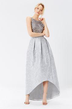 Leah Jacquard Hi Low Skirt