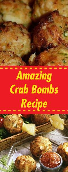 Crab meat is one of the most delicious meats out there. I make at least 4 to 5 crabmeat recipes a month. These are my famous crab bombs check out the recipe.Youll Need: 1 lb of crabmeat. 1 cup of crushed Ritz crackers. 1 tsp of yellow . Crab Recipes, Gourmet Recipes, Mexican Food Recipes, Cooking Recipes, Healthy Recipes, Keto Recipes, Meat Appetizers, Appetizer Recipes, Dinner Recipes