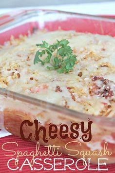 Cheesy Spaghetti Squash Casserole on MyRecipeMagic.com  ☀CQ #casseroles #quiche