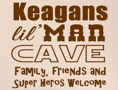 Personalized Name Lil Man Cave  Vinyl Wall by StellasVinylWallArt, $37.00