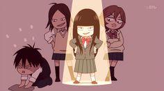 Sawako, Chizu, Ayane & Kazehaya | Kimi ni Todoke