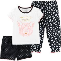 Child of Mine by Carter's Baby Toddler Girl 3 Piece Pajama Set