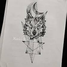 Simple geometric wolf tattoo design … | tattoo | Pinterest ...