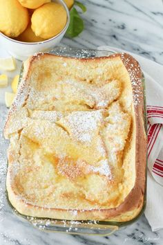 Pancakes German Oven Pancakes by thegirlinspired: A family favorite, only 5 minutes to prep, so good.German Oven Pancakes by thegirlinspired: A family favorite, only 5 minutes to prep, so good. What's For Breakfast, Christmas Breakfast, Breakfast Dishes, Breakfast Recipes, Dessert Recipes, Pancake Recipes, Breakfast Casserole, German Breakfast, Pancake Toppings