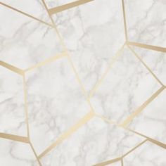 Fractal Geometric Marble Wallpaper features a classic pale white and grey marble with a contemporary metallic gold geometric overlay. Free UK delivery available Gold Luxury Wallpaper, White And Gold Wallpaper, Marble Effect Wallpaper, Marble Wallpaper Phone, Paper Wallpaper, Iphone Wallpaper, Wall Wallpaper, Bedroom Wallpaper, White Wallpaper