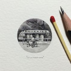 Day 293 : Sometime in the 40's / 50's, Hans Mickeleit (originally from Poland) purchased an old bus, which he converted into a takeaway cafe and positioned it at the end of Harbour Road, Hout Bay....