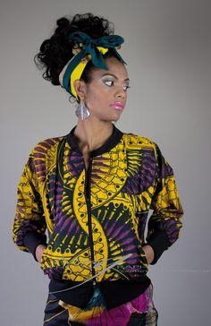 Africa on my sleeve bomber jacket