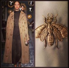 valentino fall 2013 insects | maison valentino fall 2013 embroidered bugs