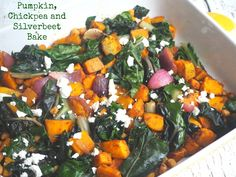 Pumpkin, chickpeas, silverbeet and red onion, tossed with fragrant spices and finished with feta; this is one dish wonderful. It's just so simple but so delicious!
