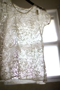A pinner wrote: this is incredible. i'm going thrifting tomorrow. let's hope i can find some lace.
