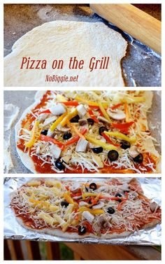 Pizza on the grill   recipe on NoBiggie.net