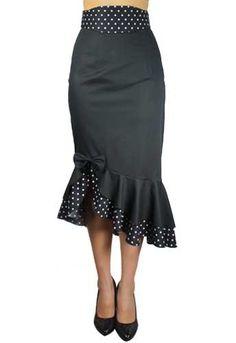 Retro Pin Up Clothes: Polka Dot Pin Up Clothing Skirt