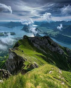 Switzerland One of these days I'm going to someplace that looks like this! Lake Lucerne Switzerland Lungern, Switzerland Blue Lake,