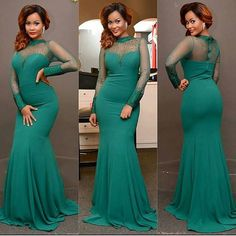 Mermaid Turquoise Evening Dresses with Long Sleeves,Evening Gown, Prom Dresses,Prom Gown ,Formal Dresses,Party Dress Cheap, Homecoming Dresses,Graduation Dress Custom Plus size