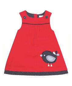 Look what I found on #zulily! Red Bird Jumper - Infant, Toddler & Girls by JoJo Maman Bébé #zulilyfinds