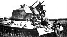 T-34 chassis as base for 2cm Flak Vierling