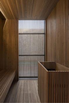 Marcio Kogan's Casa Lee Concrete House- sauna Saunas, Sauna Steam Room, Sauna Room, Design Sauna, Sauna A Vapor, Private Sauna, Sauna Hammam, Therme Vals, Studio Mk27