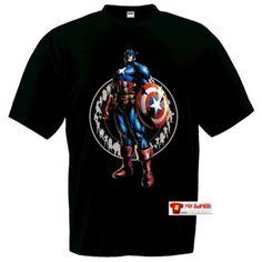 Camiseta Marvel vs Capcom 3 (Capitan America) Manga Corta (Talla: Talla XXL Unisex Ancho/Largo [60cm/75cm] Aprox]) #camiseta #friki #moda #regalo