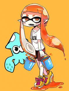「イカまとめ」/「寺田てら@LINEスタンプ」の漫画 [pixiv] #Inkling #squid