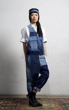 Indigo Overall Medium Blue | Fade Out Label | NOT JUST A LABEL