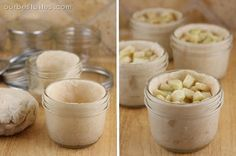 individual pies made in little glass jars that go straight from your freezer to your oven to your mouth