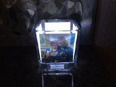 glowing photo holder