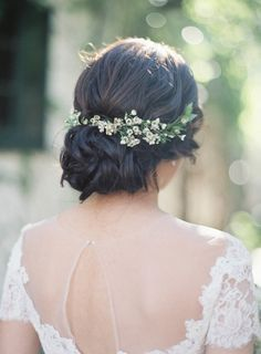 fall fresh floral comb low updo - Google Search                                                                                                                                                                                 More
