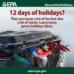 There are all sorts of ways to minimize your environmental impact this holiday season – visit our website to learn more: www.epa.gov #GreenTheHolidays