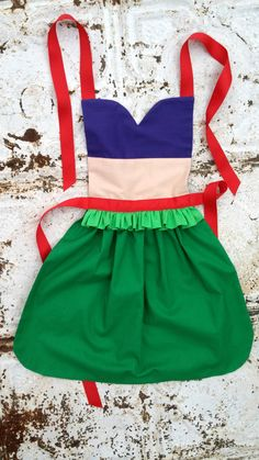 ARIEL The Little Mermaid Sewing PATTERN. Disney inspired Child Costume Apron. Dress up Play Photo shoot prop Fits 2t, 3t, 4, 5, 6, 7, 8.