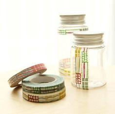 jar decor with washi tape
