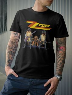 ZZ Top T-Shirt Rock Band Billy Gibbons Dusty Hill by 21street