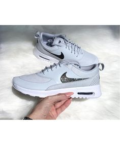 85796a9afd Nike Air Max Thea Grey Trainers With Swarovski Crystals Clearance Rose Gold  Trainers, Grey Trainers