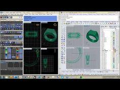 Matrix to Rhino CAD Tutorial part 1 - Ring Rails, Profiles, Gemstones and Bezels - YouTube