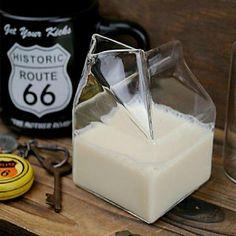 Adorable glass milk carton <3