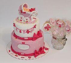 baby shower cakes for girls - CakesDecor
