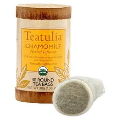 Teatulia Og1 Chamomile Round (6x30BAG). Our organic Teatulia Chamomile Herbal Tea is likely one of the most soothing you will sip. This naturally caffeine-free herb boasts refreshingly sweet yet relaxing and grounding herbal and fruit notes. And it brews into a light gold color, like soft sunshine. Note: description is informational only. Please refer to ingredients on the product before use. Please address any health or dietary questions to your health professional before using this item.
