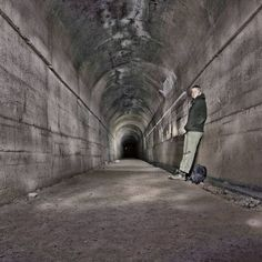 Venture into the underworld with Multi-Cache GC277EF. The name: Hannibal Lecter. Have you ever found a geocache in the dark?  #geocaching #adventure #tunnel