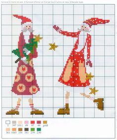 Gallery.ru / Фото #8 - Intemezzo Enchanting Christmas - mornela Santa Cross Stitch, Cross Stitch Letters, Cross Stitch Baby, Cross Stitch Charts, Cross Stitch Designs, Stitch Patterns, Loom Patterns, Cross Stitch Christmas Ornaments, Christmas Embroidery