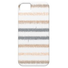 Gray Peach Ikat Stripes iPhone 5/5S Covers #peach #gray #white #ikat #stripes #iphonecase #iphonecover
