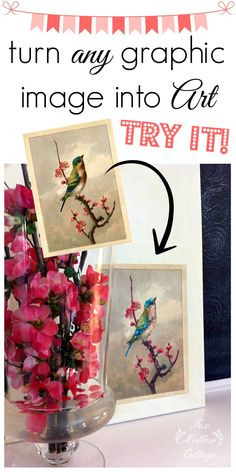 Make DIY custom art to fit any decor with a printer and a few basic craft supplies. #diy #art #craft #homedecor