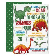 Dinosaur Birthday Invitation Dinosaur Birthday Invitations, Dinosaur Birthday Party, Birthday Party Games, Printable Birthday Invitations, Party Printables, Custom Invitations, Invites, Twin Birthday, Birthday Board