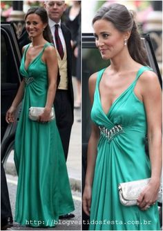I know it's Pippa but I still love this green Temperley dress! Pippa Middleton Photos, Carole Middleton, Middleton Family, Pippa And James, Duchess Of Cambridge, Gorgeous Women, Style Icons, Couture, Ideias Fashion