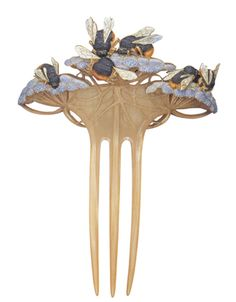 "Rene Lalique ""Bumble Bees"" hair comb"