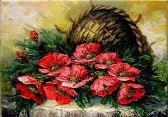 Imagini pentru tablouri pictate cu flori